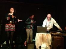 L-R Rozaya Hopkins, Zion Flex and Mike Ashley